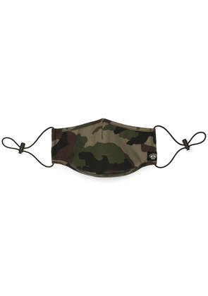 Mostly Heard Rarely Seen camouflage print face mask - Brown
