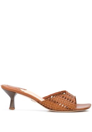 Brother Vellies Tuesday woven mules - Brown