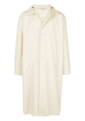 Camiel Fortgens single-breasted hooded coat - White