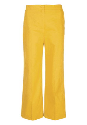 Alexa Chung cropped wide leg trousers - Yellow