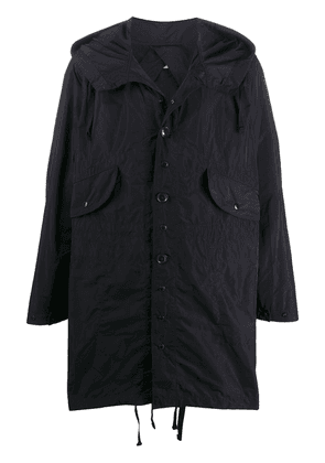 Engineered Garments oversized hooded raincoat - Blue