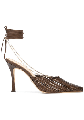 Brother Vellies Olivia 100mm pumps - Brown