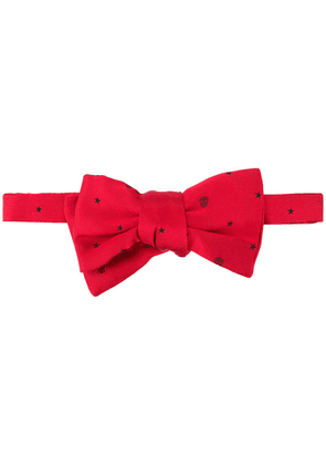 Alexander McQueen skull-print clip-on bow tie - Red