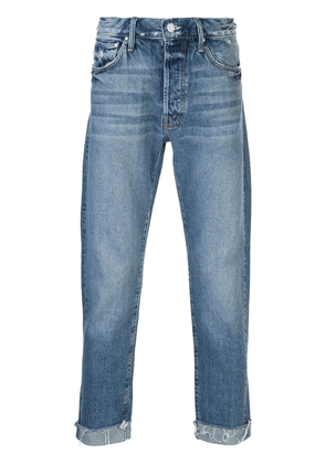 Mother The Chaser frayed cuff jeans - Blue