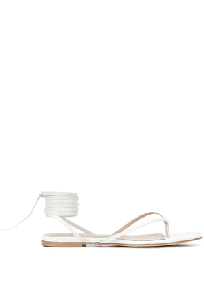 Brother Vellies Tyla flat sandals - White