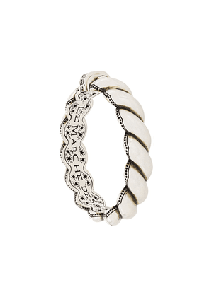 Gucci engraved message braided bracelet - Silver