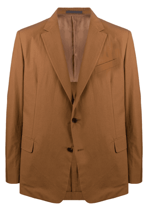 Valentino single-breasted notched lapel blazer - Brown