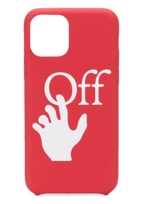 Off-White logo-print iPhone 11 Pro case - Red