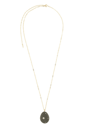 Cvc Stones 18kt yellow gold Olivia pebble and diamond pendant necklace - GRN