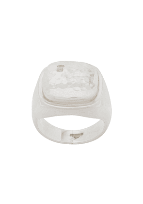 Bunney square shape signet ring - SILVER