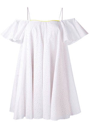 Anna October English embroidery shift dress - White