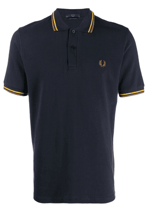 Fred Perry X Art Comes First contrast stripe polo shirt - Blue