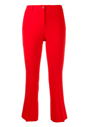 Alberto Biani slim-fit cropped trousers - Red