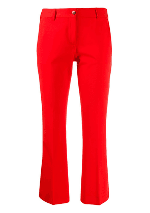 Alberto Biani cropped slim-fit trousers - Red