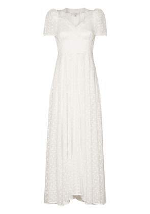 LoveShackFancy Castella lace-embroidered dress - White