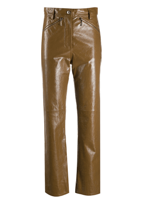 Alexa Chung high-waisted straight leg trousers - Brown
