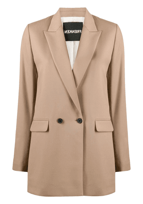 Frenken double breasted blazer - Brown
