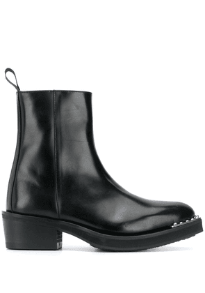 Eytys pointed-toe leather ankle boots - Black