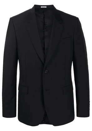 Alexander McQueen single-breasted tailored blazer - Black