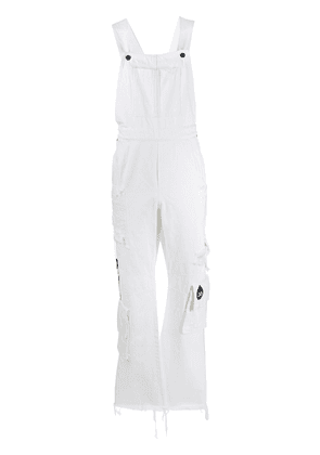 DUOltd multi-pocket denim overalls - White