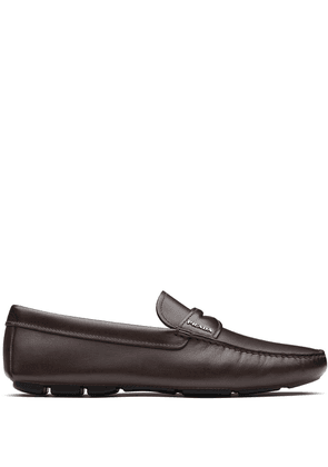 Prada leather driving shoes - Brown