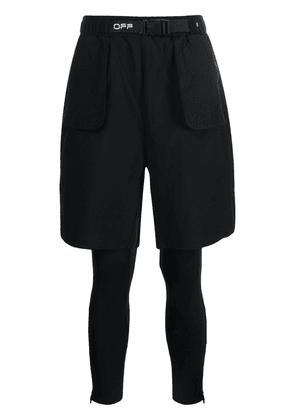 Off-White buckle-detail running shorts - Black