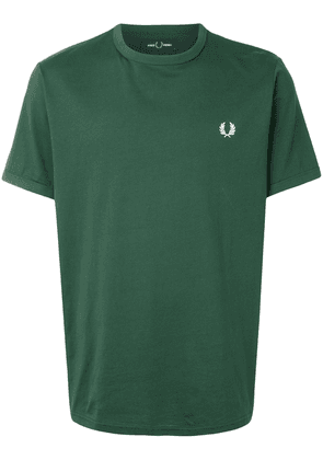 Fred Perry embroidered logo cotton T-shirt - Green