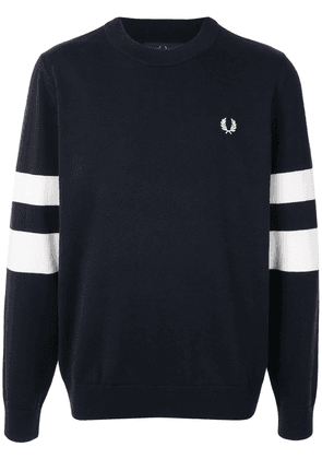 Fred Perry striped logo pullover - Blue