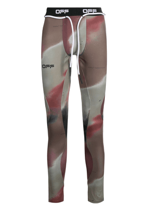 Off-White camouflage-print performance leggings - Black
