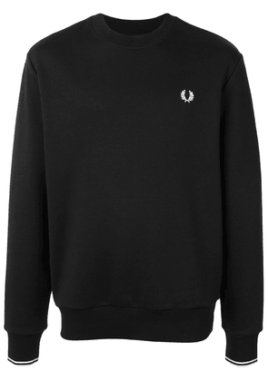 Fred Perry embroidered logo crew-neck sweatshirt - Black