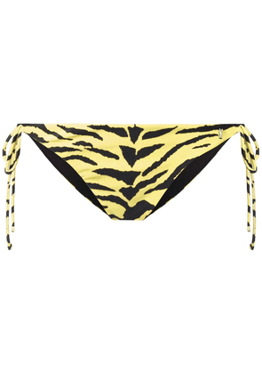 Saint Laurent tiger print bikini bottom - Yellow