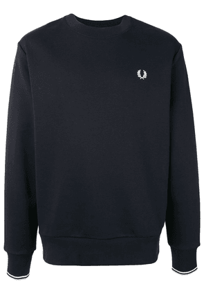 Fred Perry embroidered logo crew-neck sweatshirt - Blue