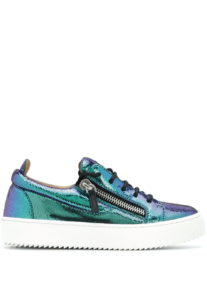 Giuseppe Zanotti Gail metallic sheen sneakers - Blue