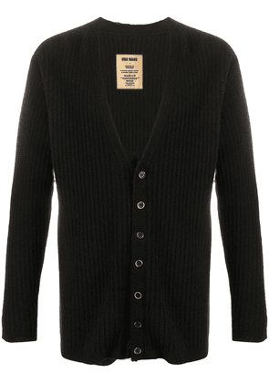 Uma Wang ribbed v-neck cardigan - Black