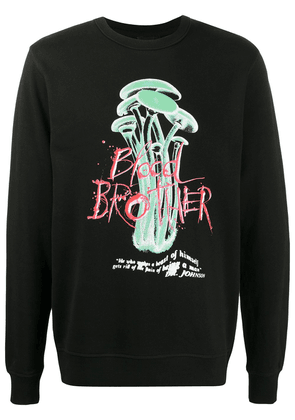 Blood Brother Wolfe graphic-print sweatshirt - Black