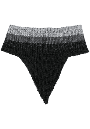 Marco De Vincenzo buttoned knitted scarf - Black