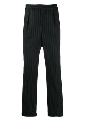 Saint Laurent pinstriped cropped trousers - Black