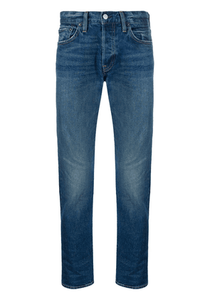 RE/DONE mid-rise straight-leg jeans - Blue
