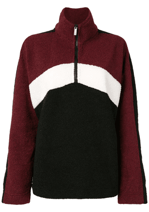 ALALA color-block front-zip top - Red