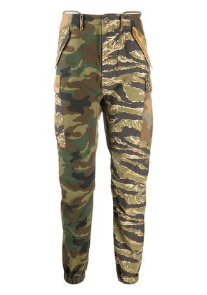 R13 camouflage print skinny trousers - Brown