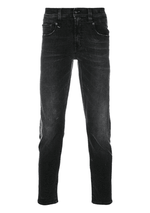 R13 high rise slim-fit jeans - Black