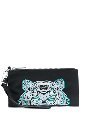 Kenzo embroidered Tiger motif pouch - Black