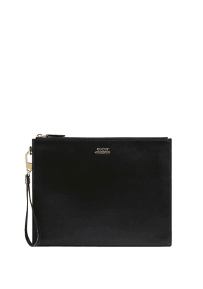 Gucci Leather pouch with Gucci logo - Black