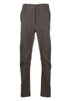 Uma Wang striped slim-fit trousers - Brown