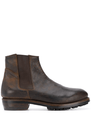 Ajmone distressed ankle boots - Brown