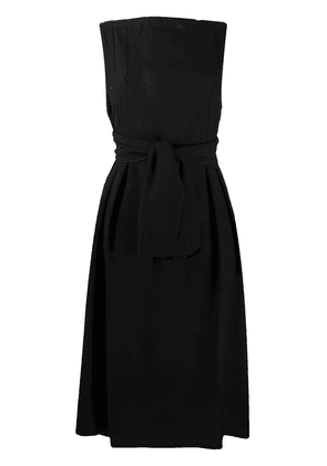 Daniela Gregis tie-waist A-line dress - Black