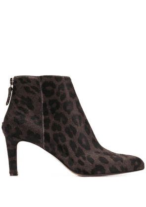 Antonio Barbato leopard print booties - Brown