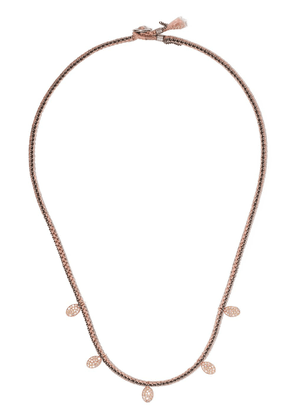 Brooke Gregson 14kt rose gold 5 diamond disc necklace - PINK