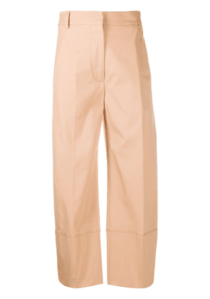 Cédric Charlier cropped straight-leg trousers - Neutrals