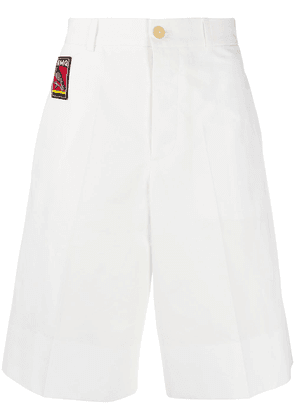 Alexander McQueen embroidered logo chino shorts - White